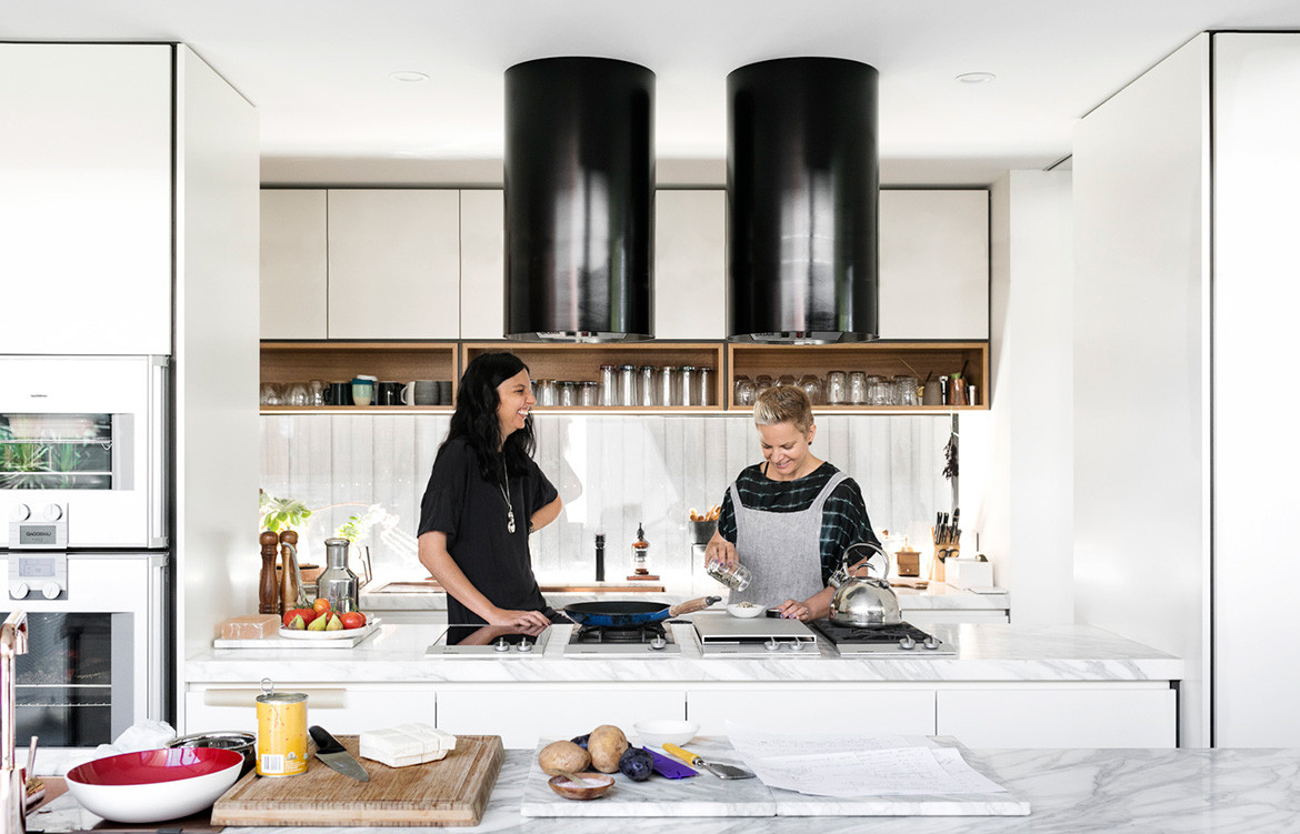 K2 Kitchen System Cantilever Colin Hopkins Bette Poulakas CC Martina Gemmola Bette and Ruth Kitchen exhaust