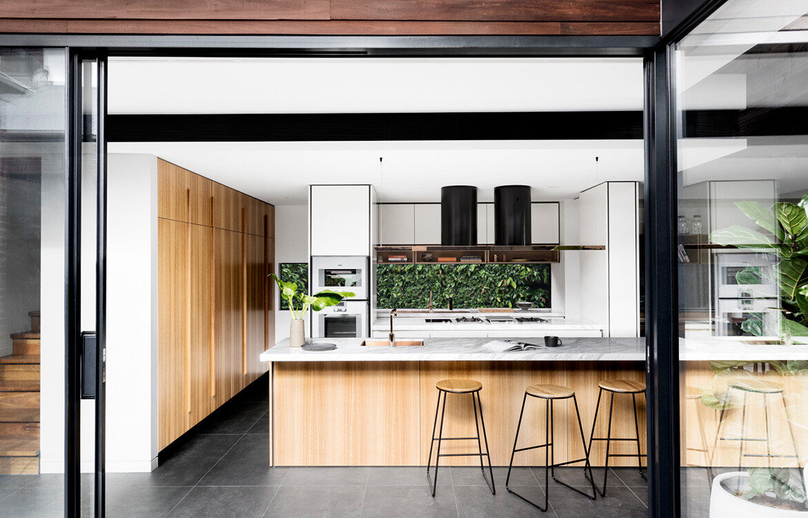 K2 Kitchen System Cantilever Colin Hopkins Bette Poulakas CC Martina Gemmola kitchen island bench and breakfast bar seat