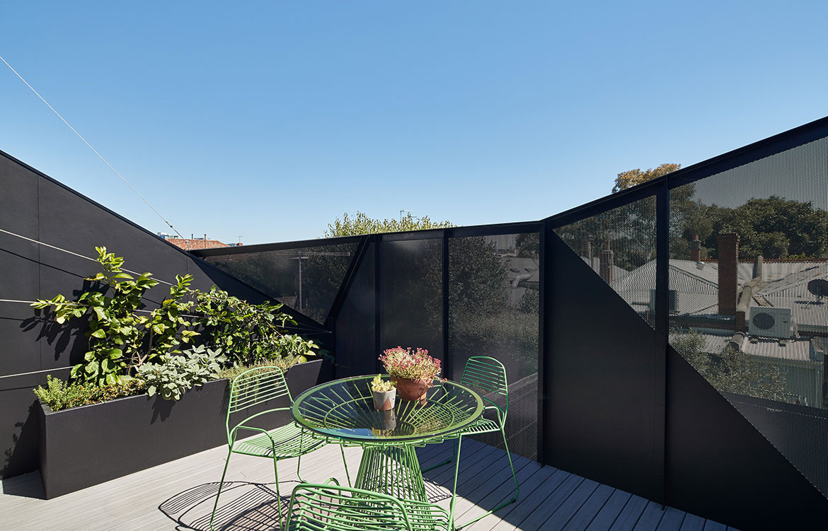 K2 House FMD Architects Fiona Dunin cc Peter Bennetts rooftop garden