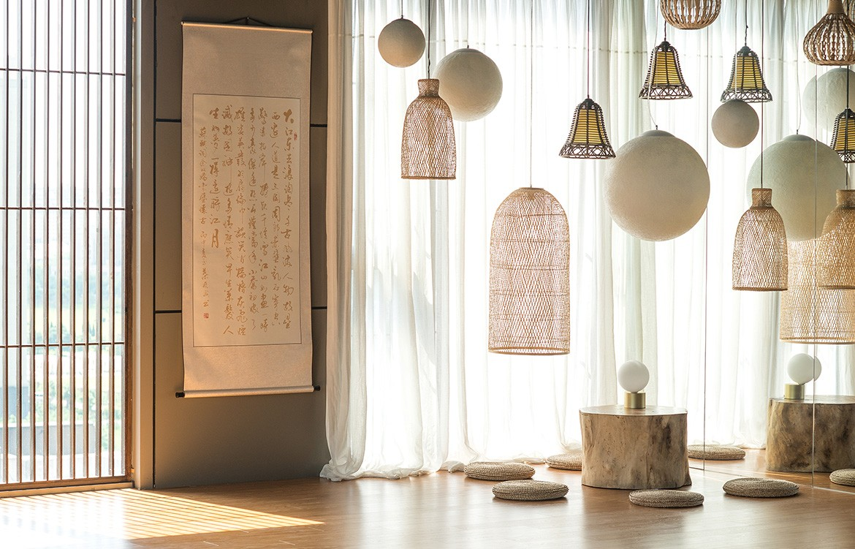 KCA Yoga Shanghai hanging baskets details