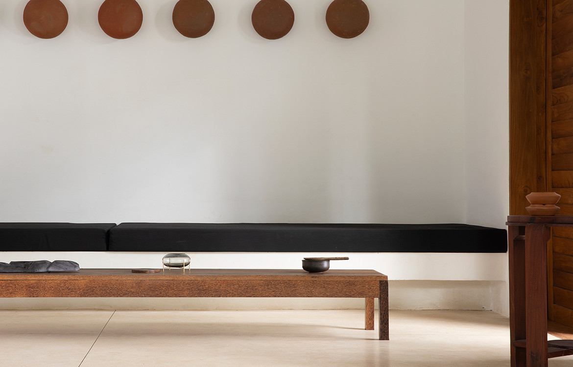 K House Norm Architects Aim Architecturre long coffee table