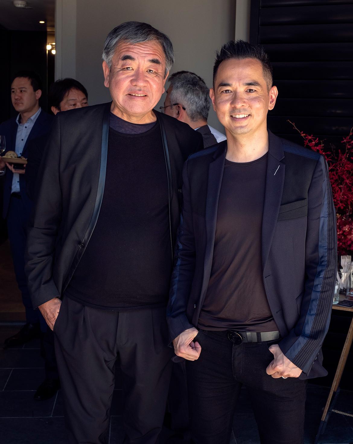 Koichi Takada and Kengo Kuma cc Daniel Asher Smith portrait