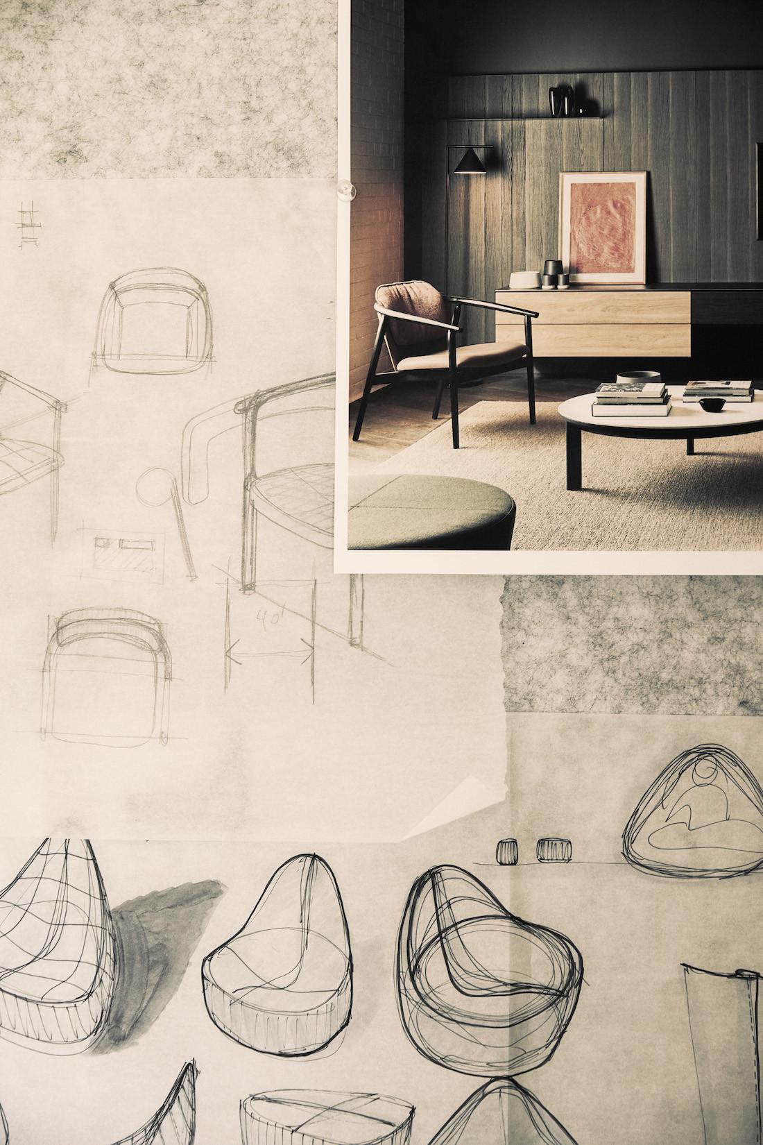 Sketches in the Kett design studio