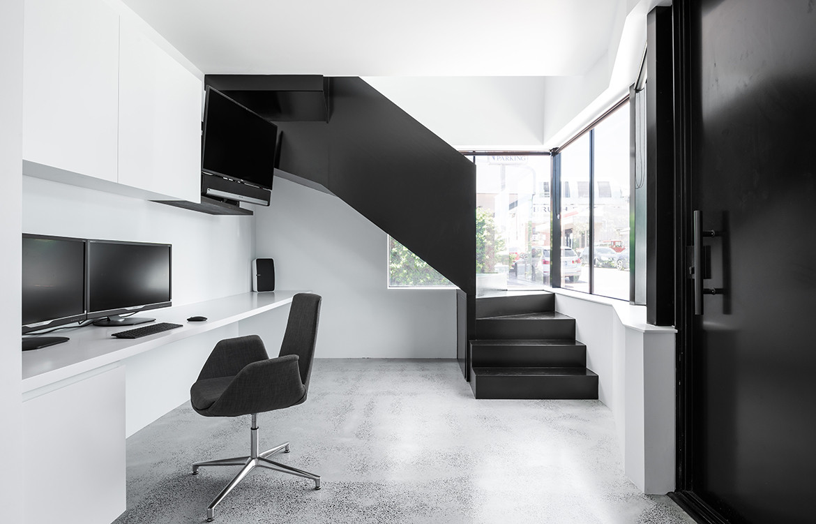 King George House by Robeson Architects | contemporary monochrome office design | residential architecture | renovated heritage house