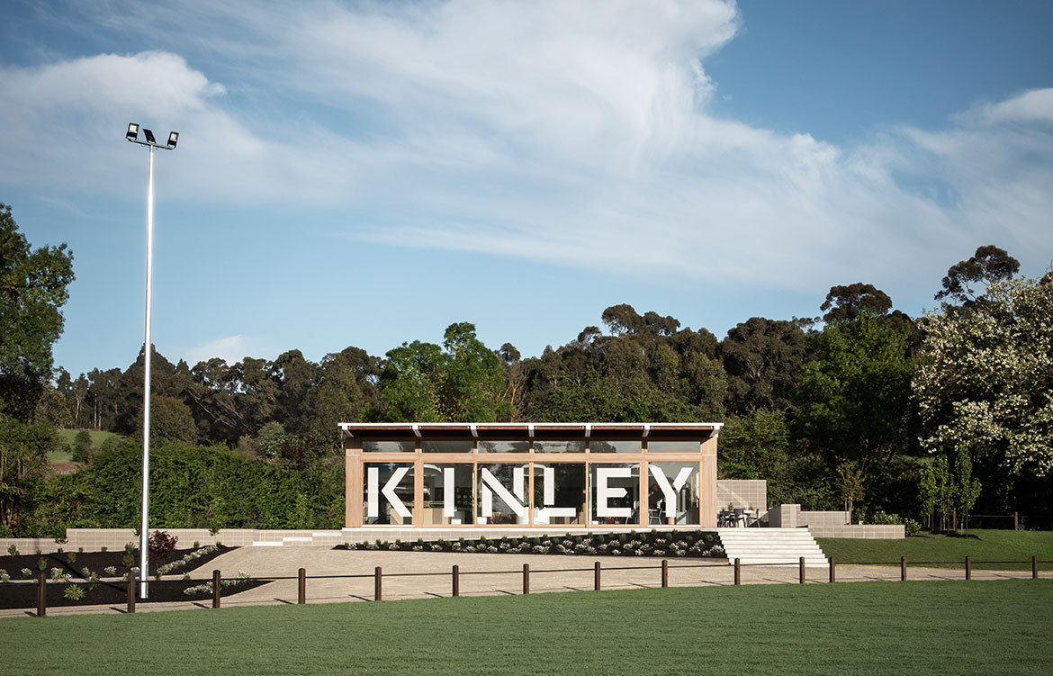Kinley Cricket Club Winter Architecture Zunica CC Nicole England elevation exterior