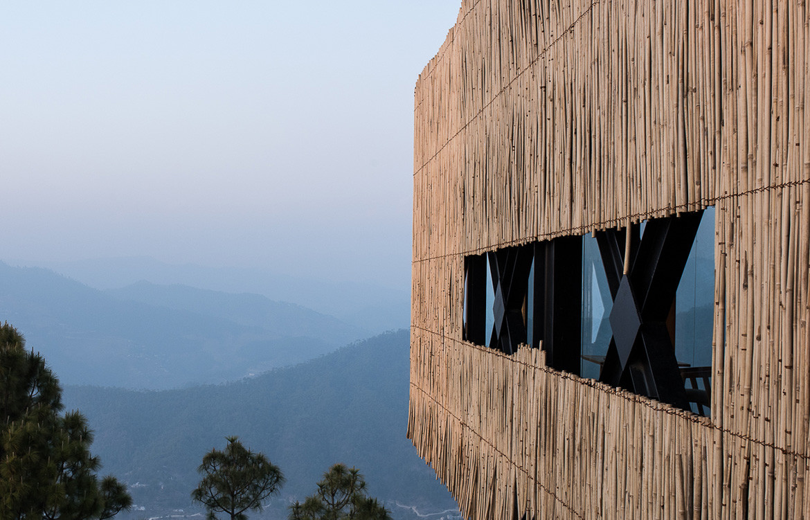 Kumaon Zowa Architects India cc Akshay Sharma bamboo cladding