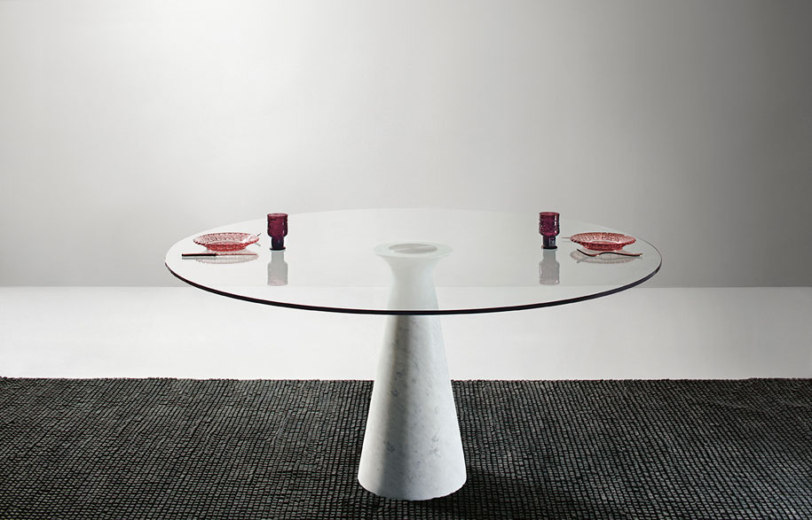 Leaf_dining,Bianco-Carrara&Extralight-glass