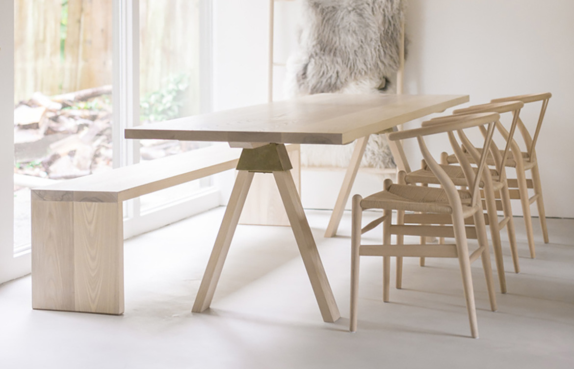 Light Timber Desk with Chairs