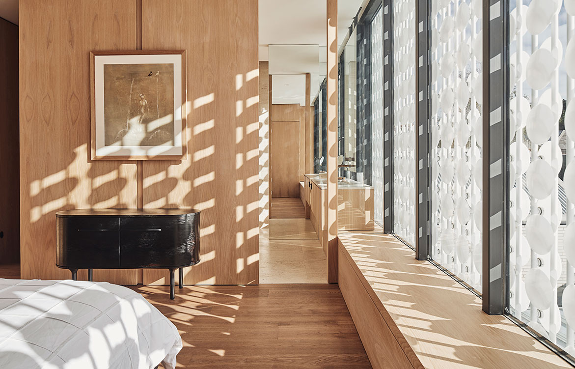 Light House, designed by LAYAN, is an Alts & Ads a Victorian worker's cottage in Melbourne that has a façade screen that enables the occupants to closely observe and live in harmony the rhythms of nature.