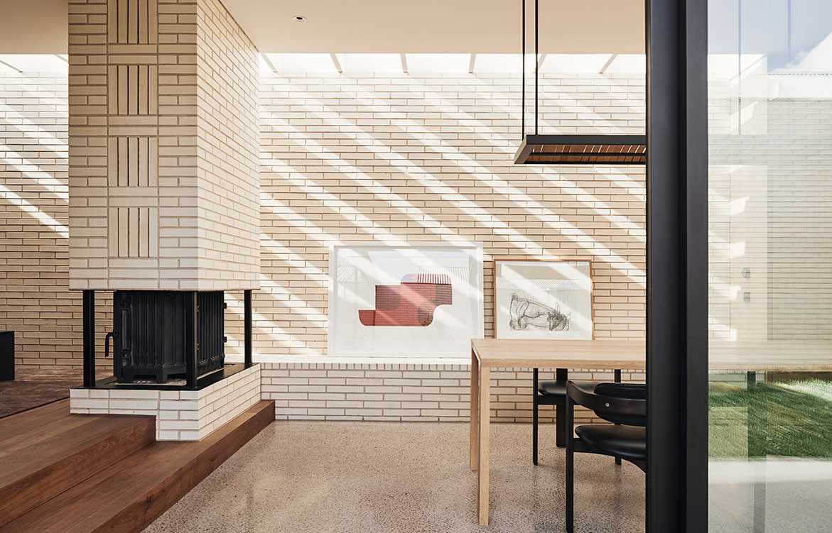 The Light House Lives With The Rhythm Of Nature | brick feature wall