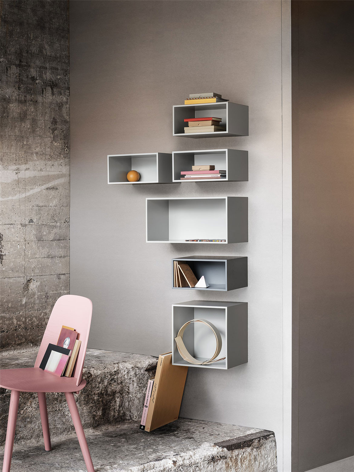 Wallhung Storage grey mini stacked