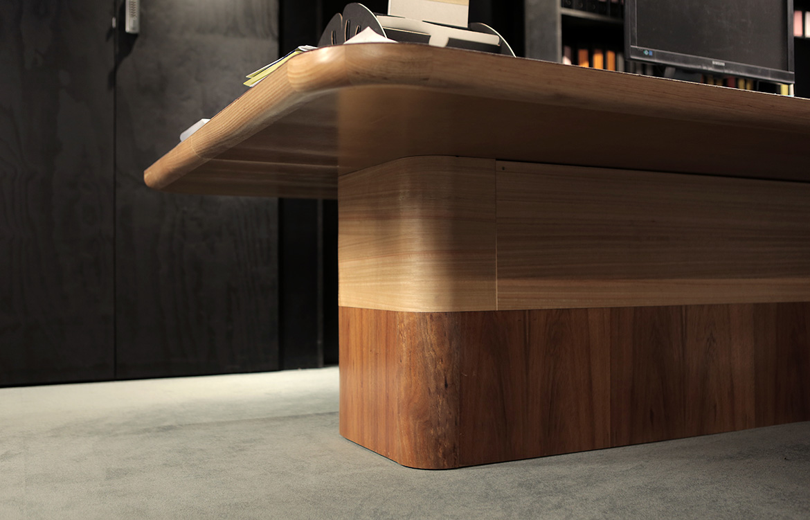 Lou Weis Broached Comissions leather clad work stations