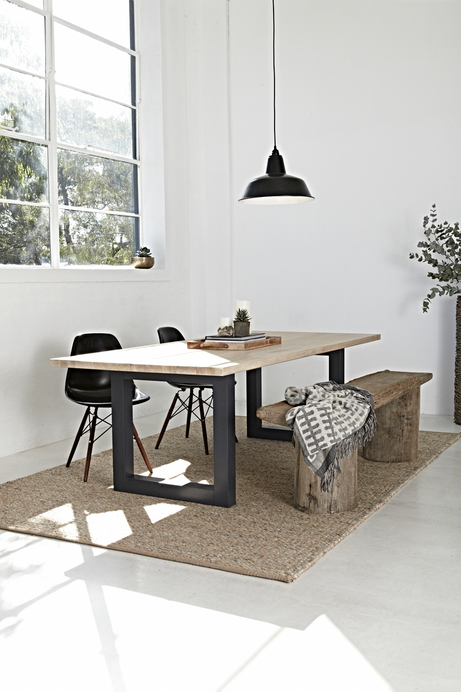 Luxa-Rectangle-Dining-Table--Grey