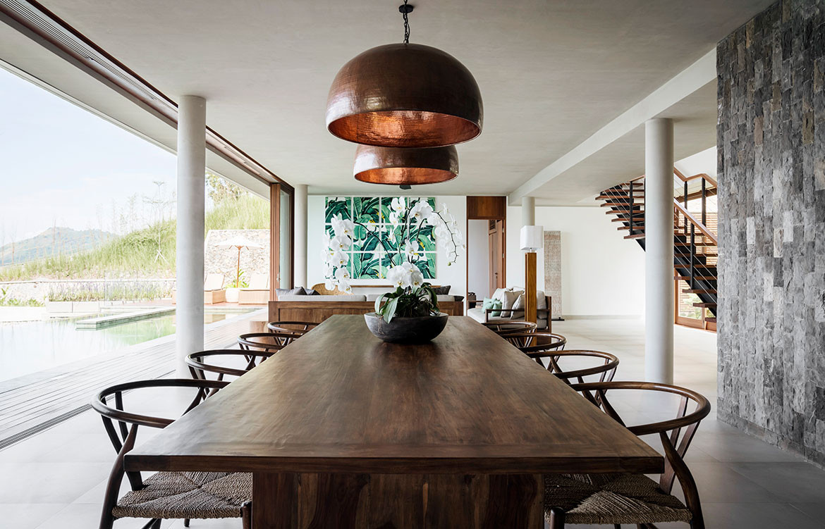 Maleo Residence Mitchel Squires Associates open dining space