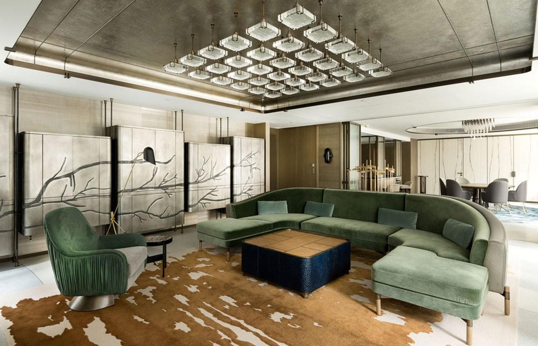 Mandarin Oriental Joyce Wang lounge room