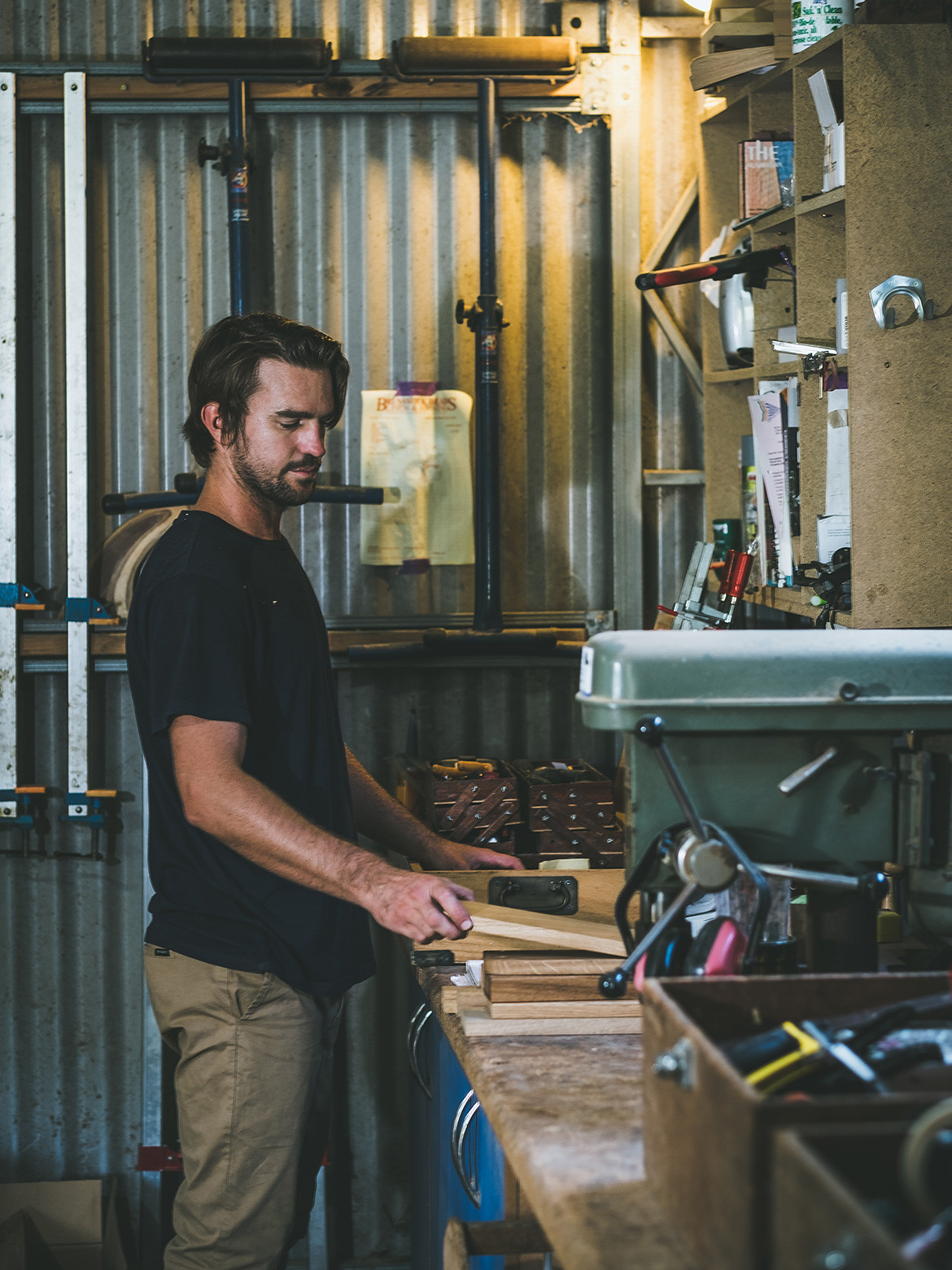 Martin Johnston furniture is designed and made in Byron Shire, using craftsmanship techniques and machinery Martin inherited from his father.