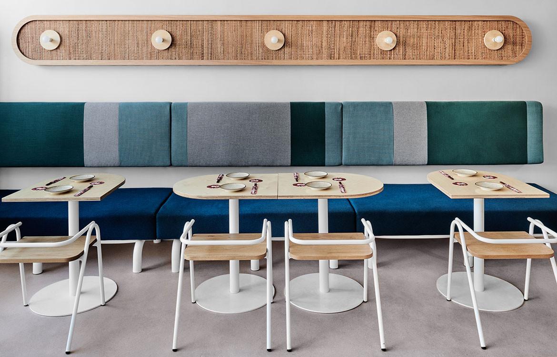 Merah One Design Office cc Tom Blachford wall seating