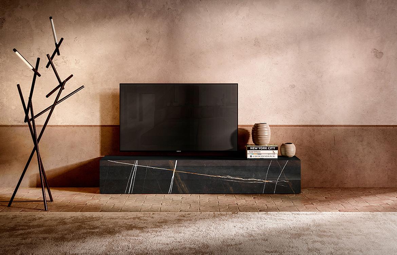 Lago 36e8 X-Glass TV Unit from Misura