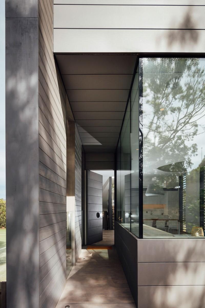 Mitsuori Architects Portsea Sleepout photography by Michael Kay entrance