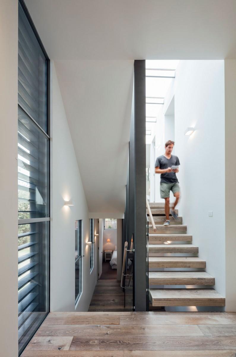 Mitsuori Architects Portsea Sleepout photography by Michael Kay staircase