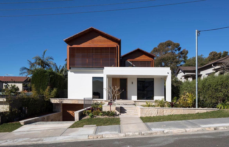 Mosman House Daniel Boddam Architects cc Brett Boardman front facade