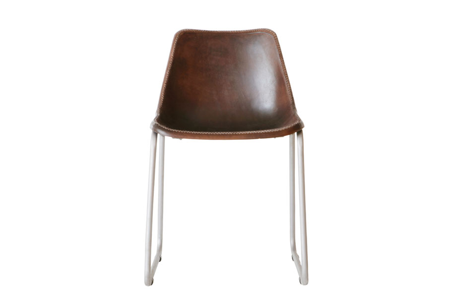 Moulded-Leather-Chair--Brown_$245
