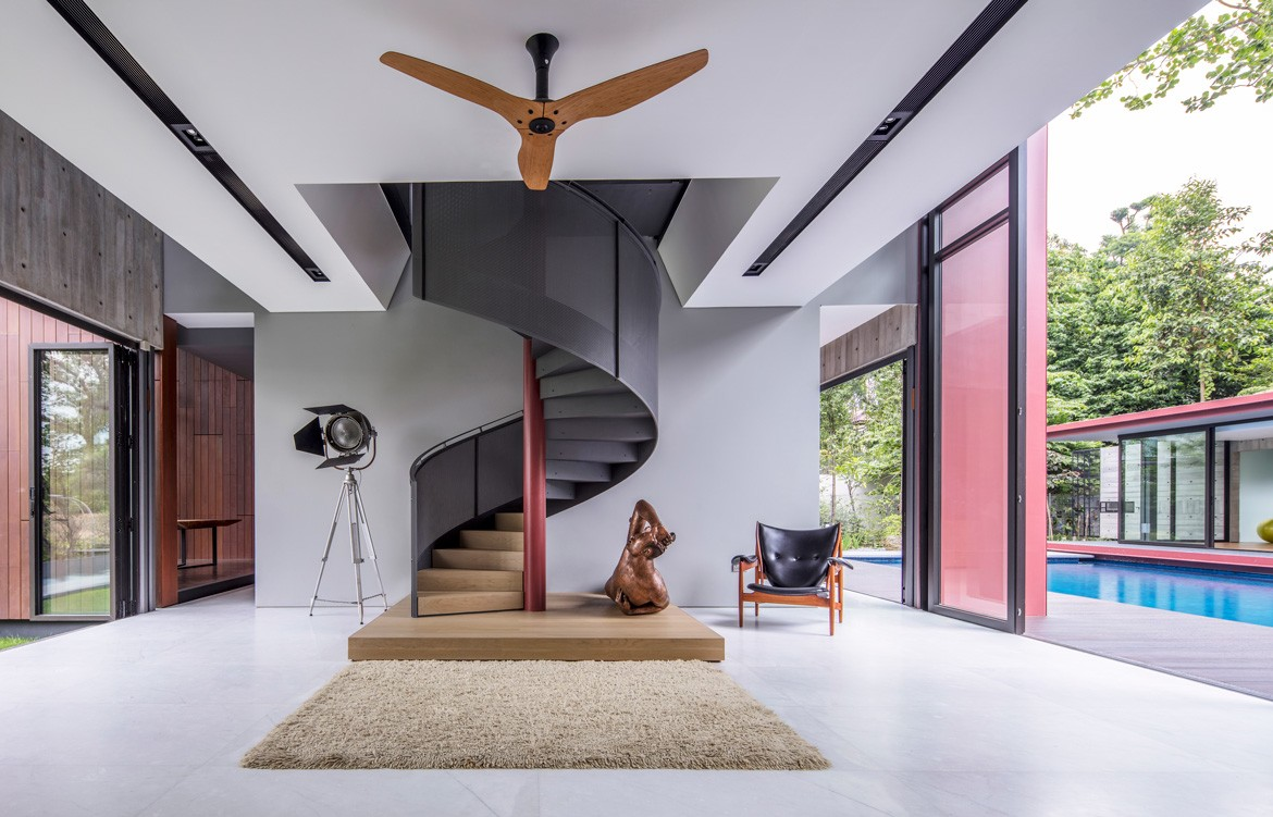 Multi-Generational House Photography by Masano Kawana Staircase