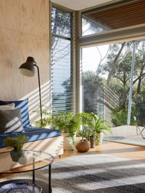 Ferns and Breezway glass louvres bring fresh air into Walkerville Pd House by NRN Architects