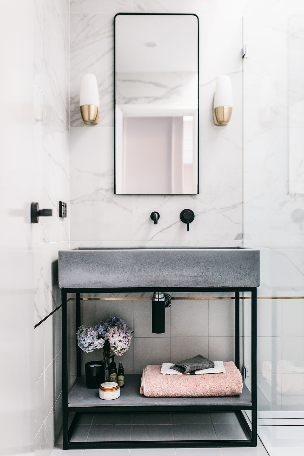 Nood Co Concrete bathroom vanity