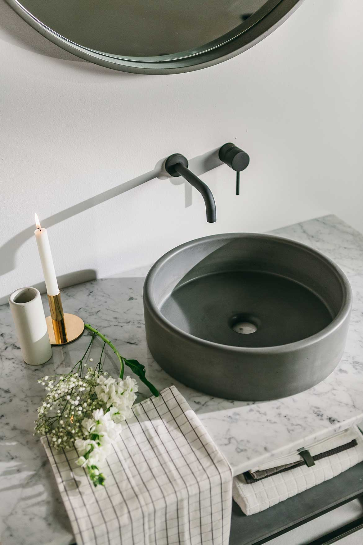 Nood Co Concrete bathroom basin