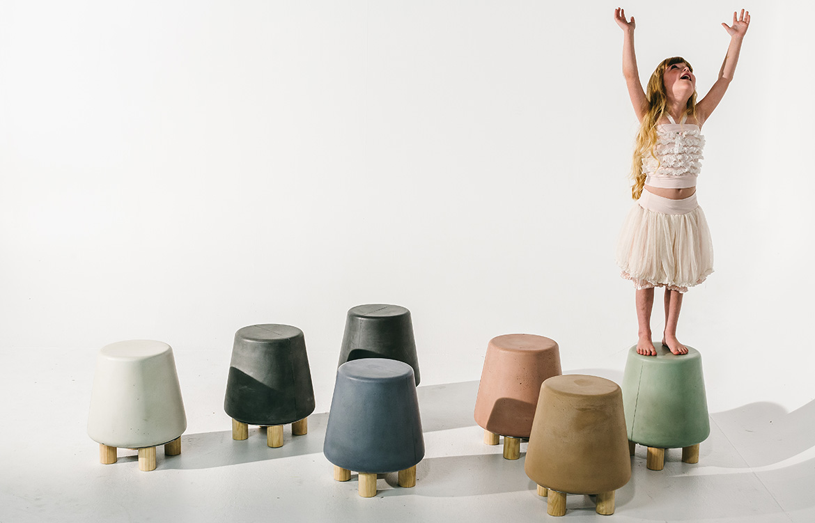 Nood Co Concrete stools
