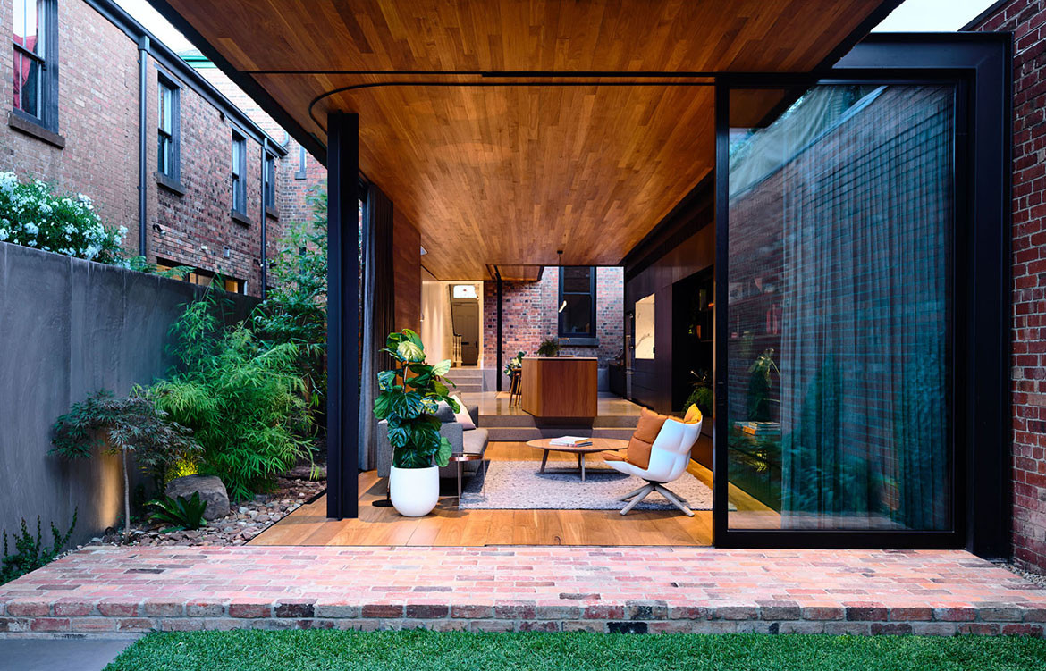 North Melbourne Terrace Matt Gibson Architecture + Design cc Derek Swalwell open plan