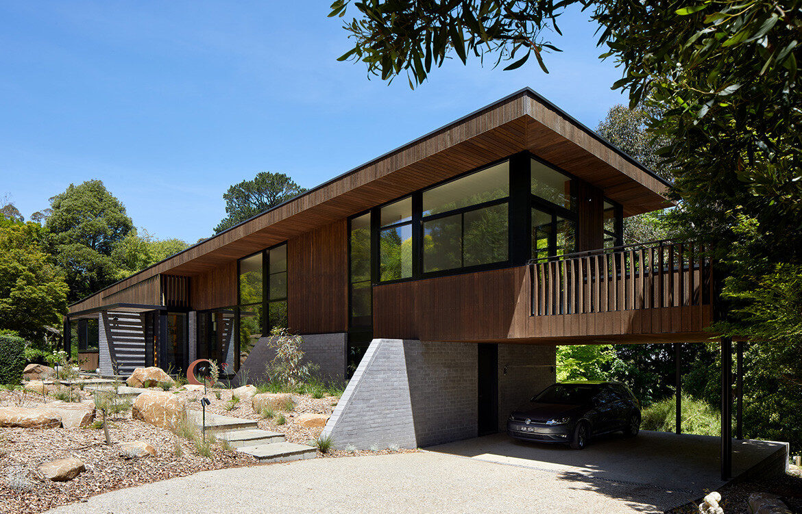 Olinda House, a passive house in the Dandenong Ranges by BENT Architecture featured on habitusliving.com cc Tatjana Plitt
