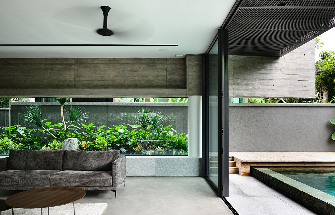 Ong Ong Faber Hill Singapore CC Derek Swalwell living space and pool