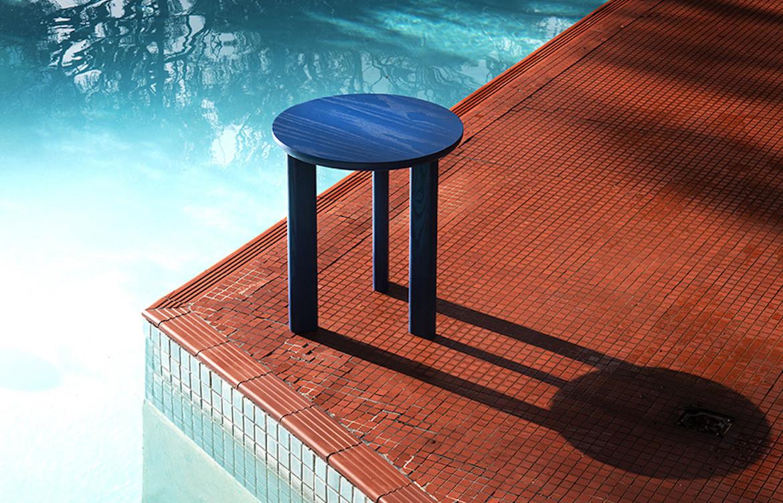 Pebble Side Table Blue