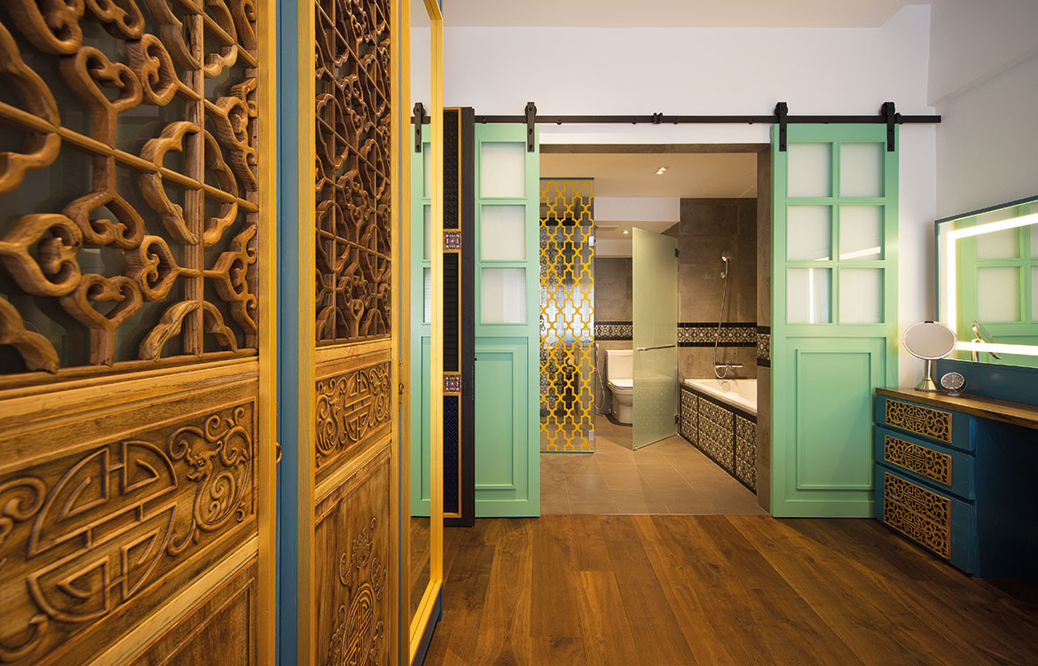 Peranakan apartment Linear Style Concepts bathroom