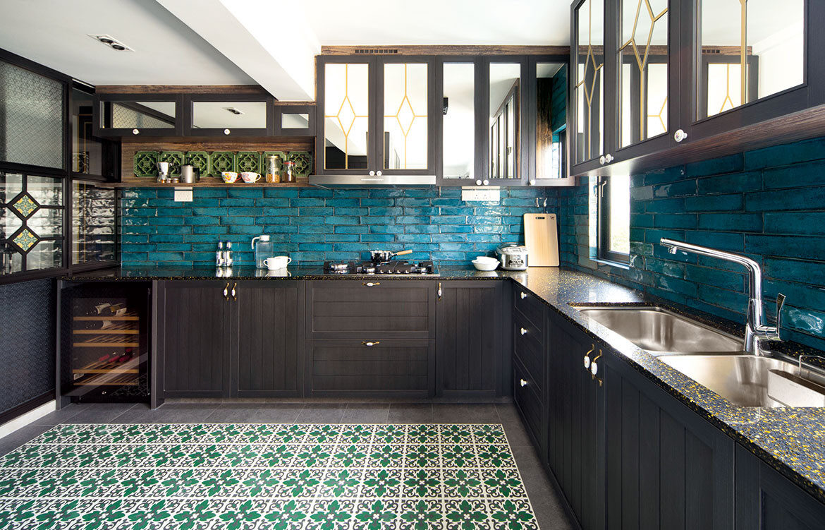 Peranakan apartment Linear Style Concepts kitchen