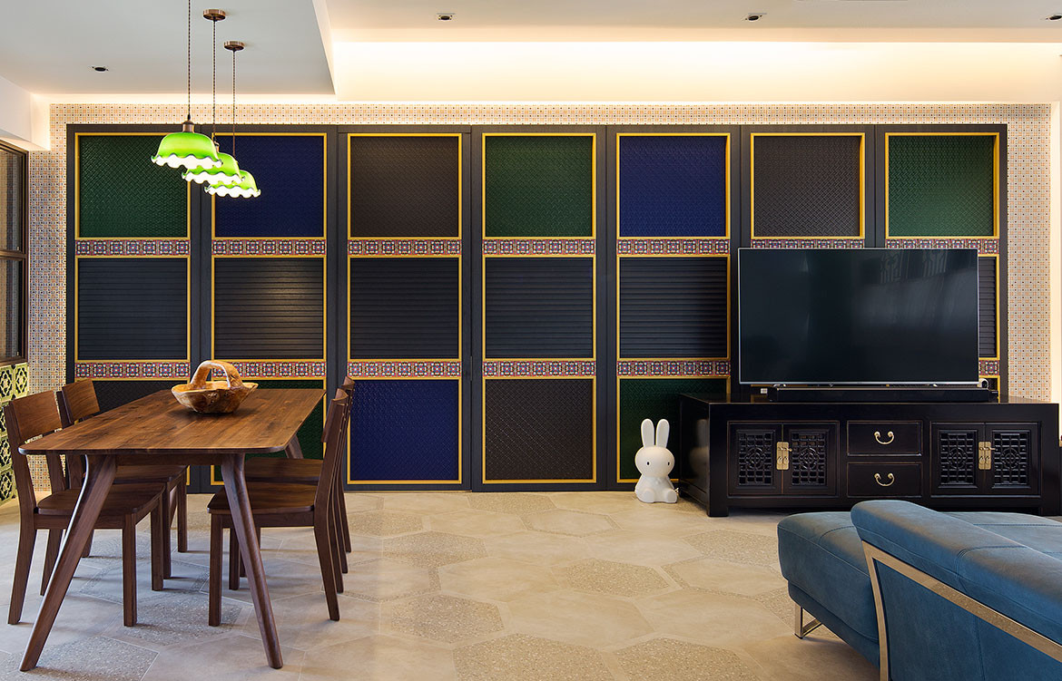 Peranakan apartment Linear Style Concepts open plan living