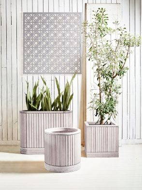 Outdoor styling with Pleat Collection bamboo planters