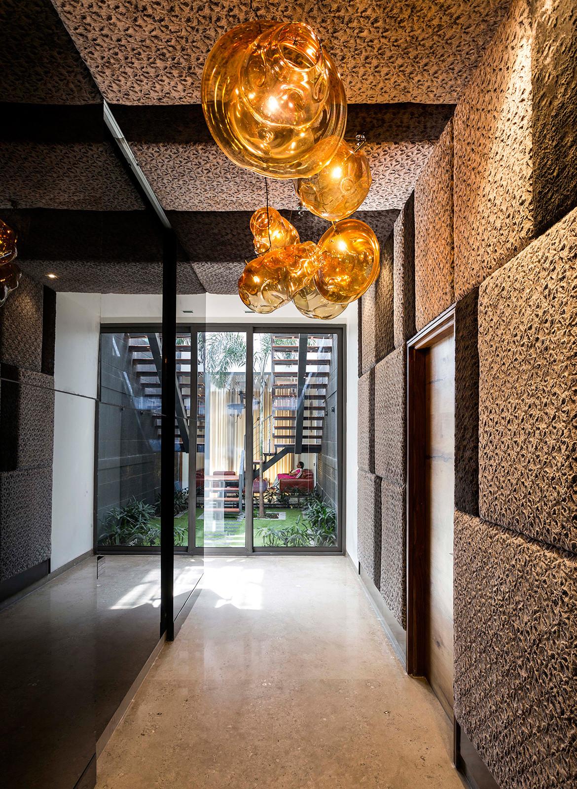 Pool Yard House Studio Ardete CC Purdesh Dev Nikhanj hallway and lighting features