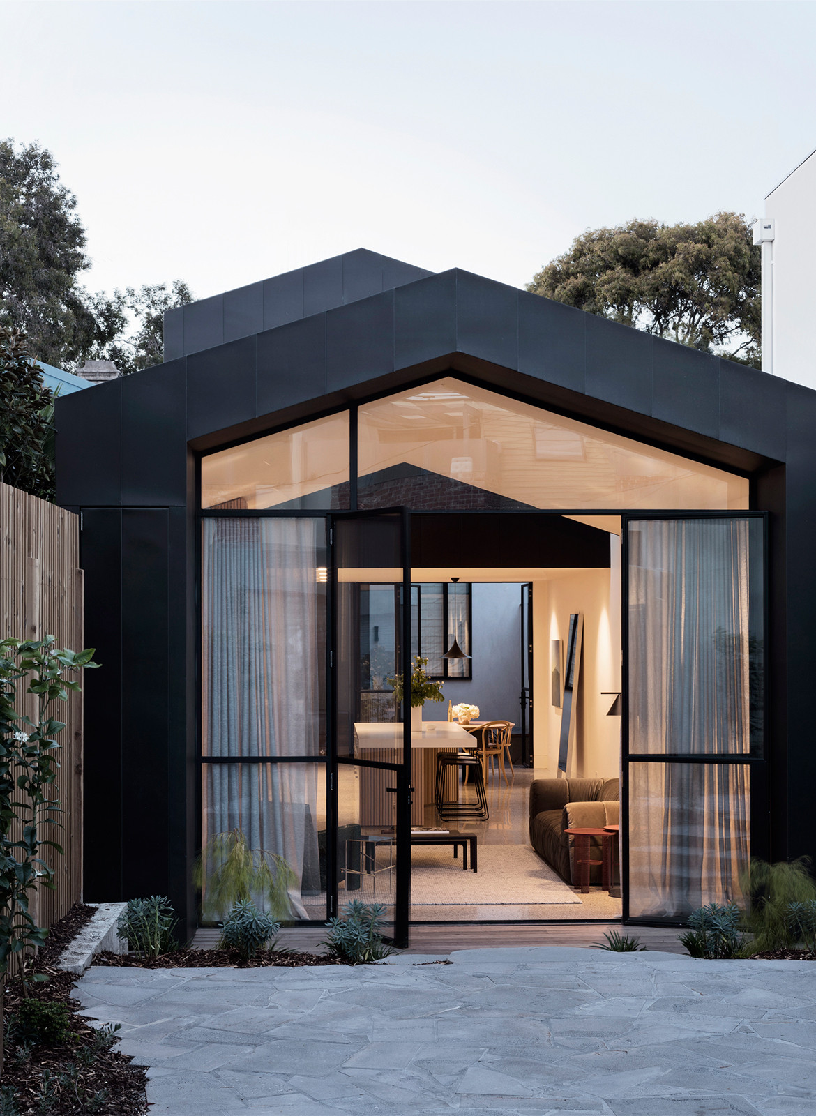 Port Melbourne House Pandolfini Architects CC Rory Gardiner entrance