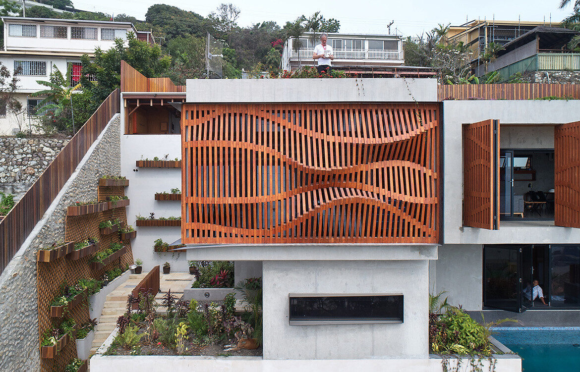 Port Moresby House Studio Workshop Papua New Guinea cc Peter Bennetts timber facade