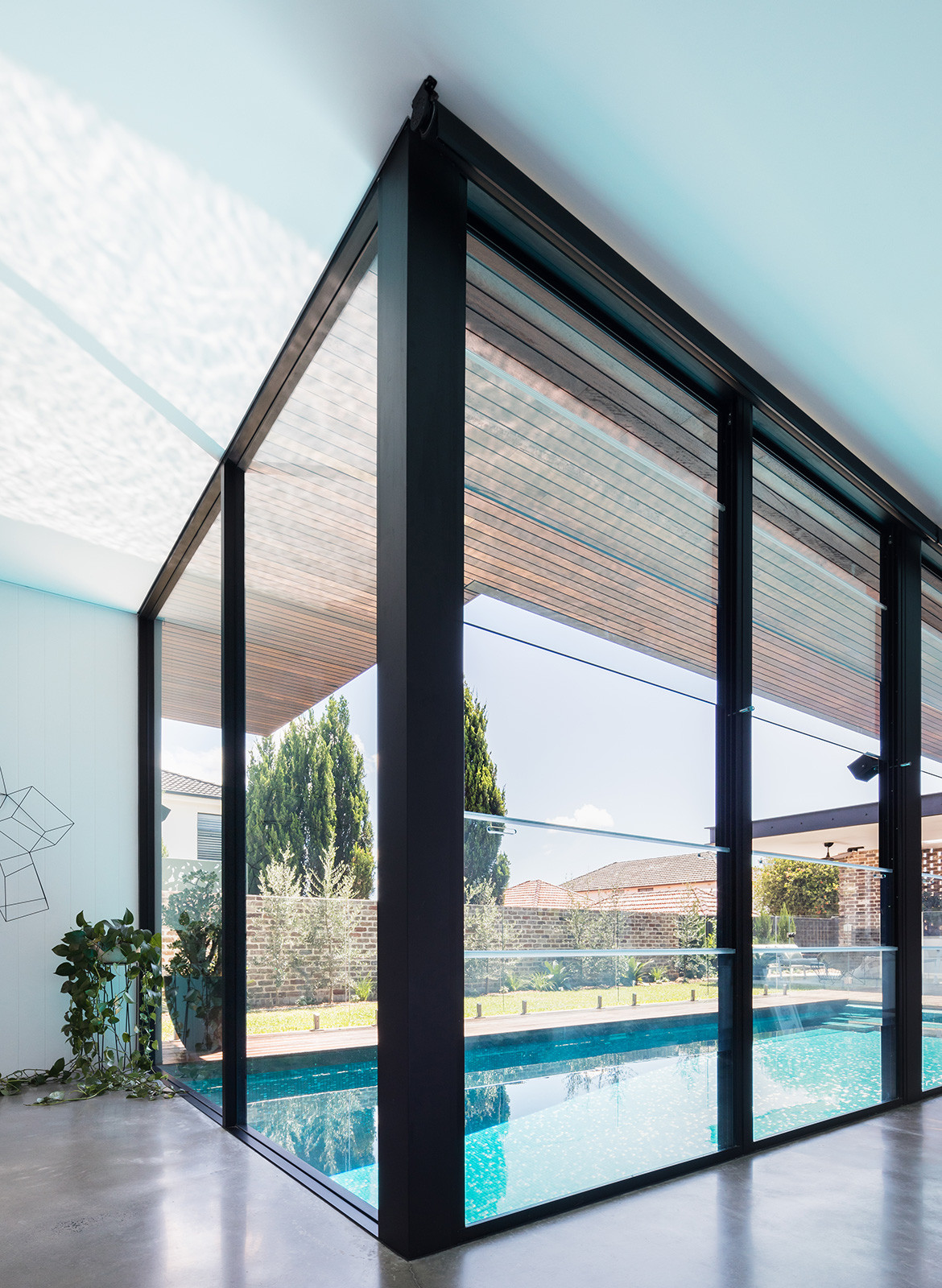 Preston House Sydesign Lot 1 Design CC Katherine Lu floor to ceiling pool doors
