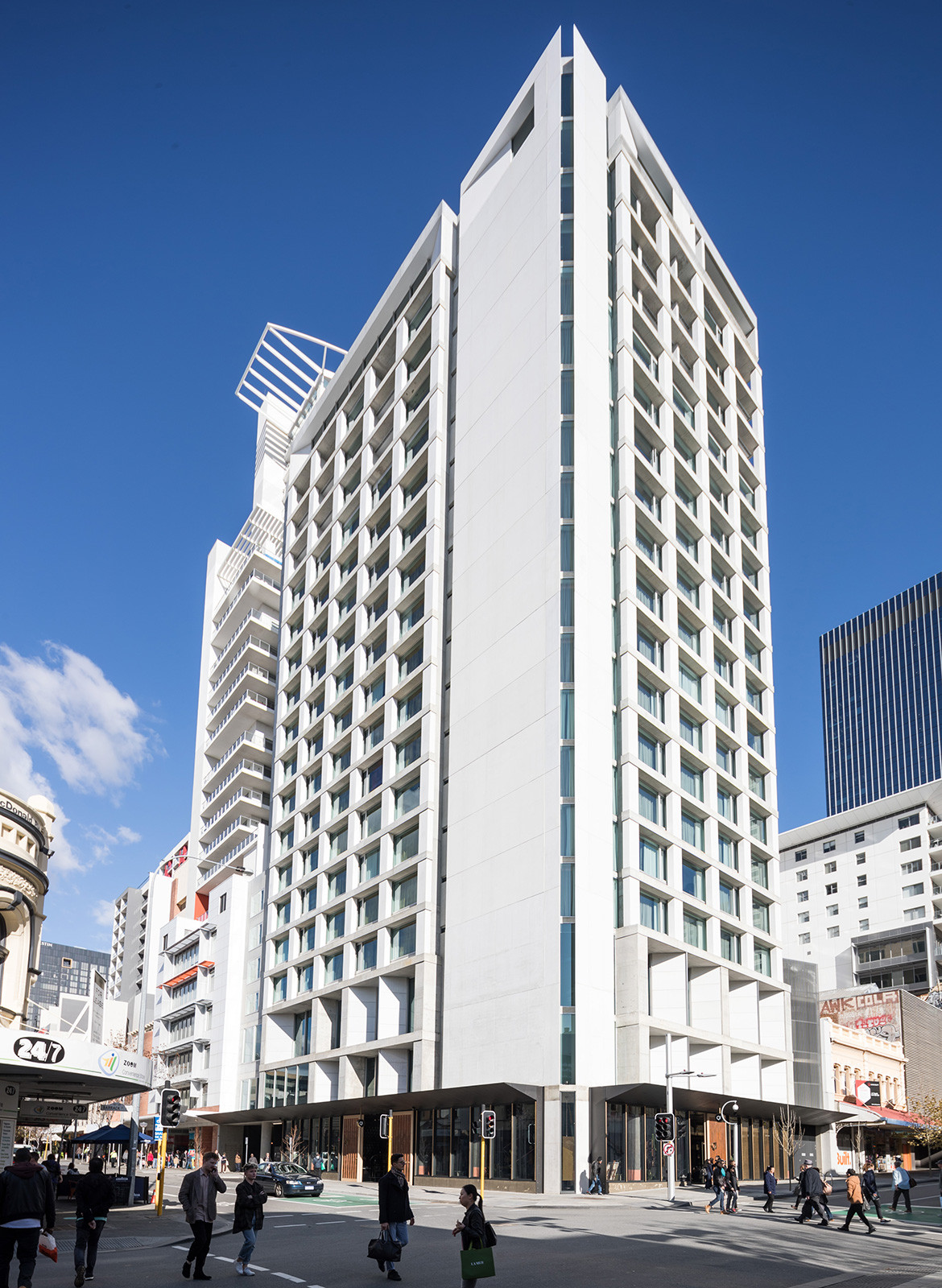QT Hotel Perth Indyk Architecture hotel exterior shot