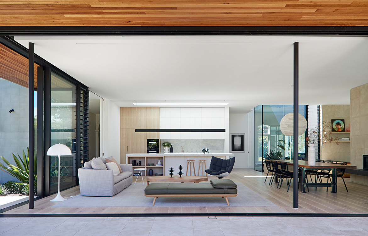 Pavilion House Robson Rak Architects CC Shannon McGrath open plan living