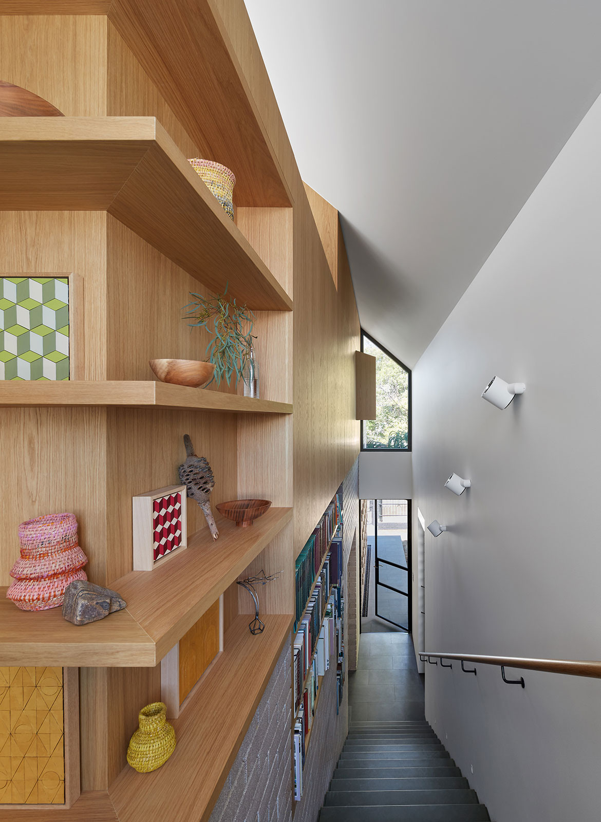 RZB House CAPA Studio CC Douglas Mark Black stairs corridor