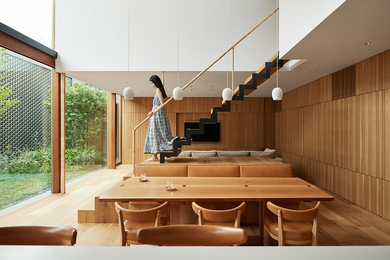 Radiator House Hiroshi Nakamura Architects wooden interior