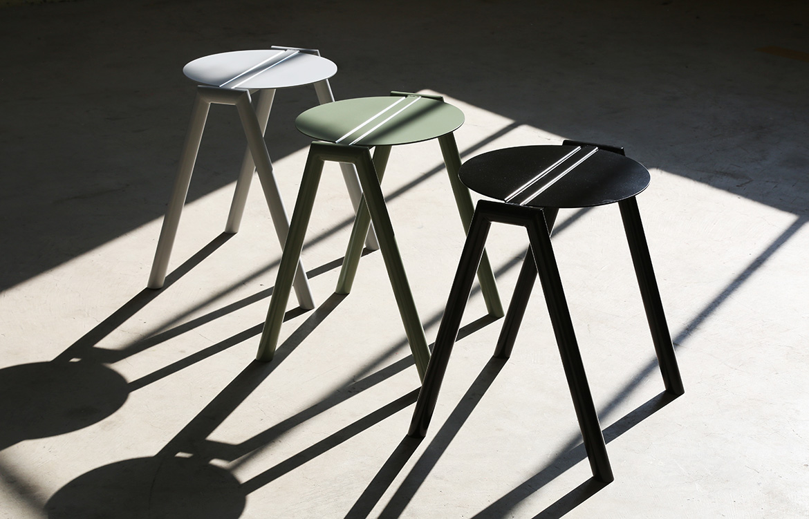 Rene Linssen Furnished Forever stools colourway