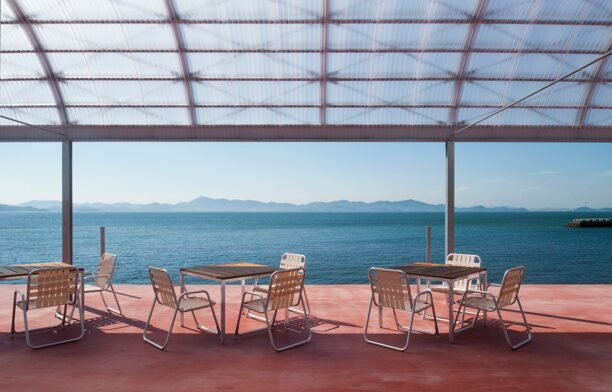Restaurant on the sea Photography by Hiroshi Mizusaki view