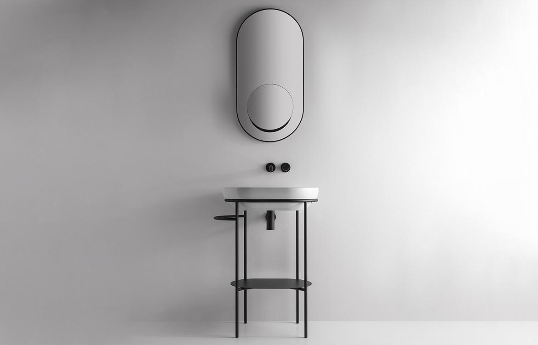 Ring Basin Grey Bathroom Interior